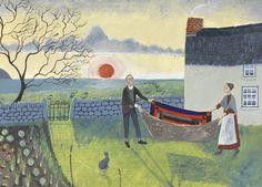 'In The Light Of The Sunset' By Painter Valeriane Leblond. Blank Art Cards By Green Pebble. www.greenpebble.co.uk