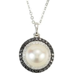 Black and White Diamond Cultured Pearl Necklace, click to be directed for purchase!
