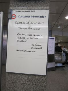 Angel Tube Thought of the Day - 28th July 2011 by Annie Mole, via Flickr