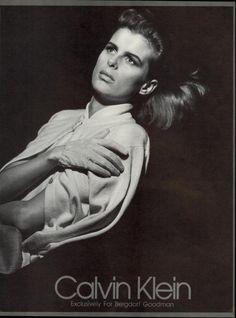 Calvin Klein Fall/Winter 1986/1987 Photo Herb Ritts Model Josie Borain US VOGUE Sept 1986