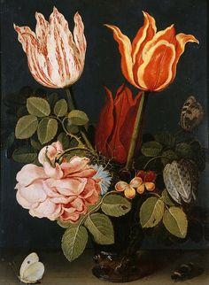 Цветы и бабочки. Виллем ван Альст