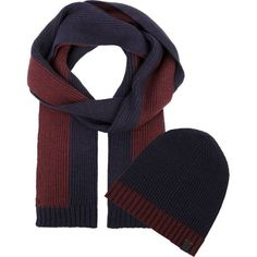 86d9f2fa Tahari Cashmere men's scarf and hat gift set NEW.