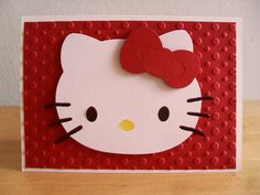 Hello Kitty Card - Red by LDEARTS Craft Creations, via Flickr