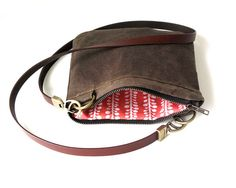 Waxed+Canvas+Cross+Over+Pocket+Purse++Small+Purse+by+ClothandINK,+$45.00