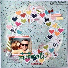More pictures, but perfect layout. Love the circle and hearts but doesn't overwhelm the picture