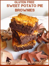 Wow This Looks yummy!! Amaranth & Kale: Sweet Potato Pie Brownies Got to try this.