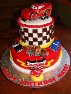 Image detail for -disney cars cake by mballen60 the birthday boy loved his cake and the ...