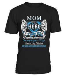 Mom Is My Guardian Angel Shirt mom In Heaven