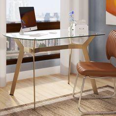 Studio Designs HOME Archtech Glass Desk & Reviews | Wayfair