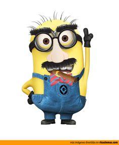 Minion disfrazado de Groucho Marx.