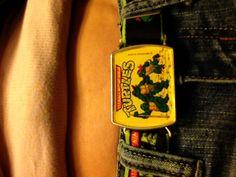 my boyf ninja turtle belt fits me!