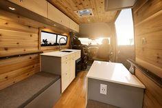 The most recent van build from @townsend_travel_trailers sure love the bamboo on cedar look
