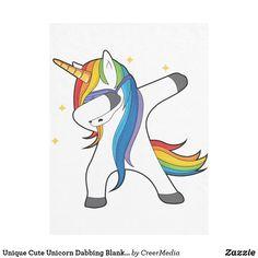 Unique Cute Unicorn Dabbing Blanket - home decor design art diy cyo custom Cute Unicorn, Cute Rainbow Unicorn, Unicorn Pics, Unicorn Art, Unicornios Wallpaper, Edge Stitch, Custom Stickers, Bunt, Vector Art