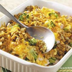 Skinny Chicken Broccoli Casserole - a fan favorite!