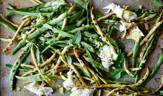 Charred Snap Beans with Whole Lemon Dressing and Mozzarella Recipe