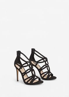 Sandales à lanières et talon -  Femme | MANGO France