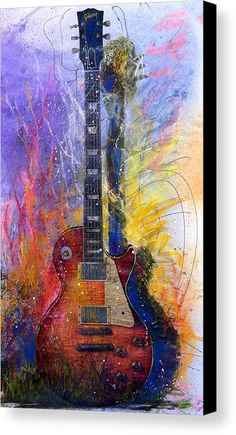 Fun With Les Les Paul Guitar Watercolor; another guitar painting for my classroom. Guitar Painting, Guitar Art, Les Paul Guitars, Amazing Art, Watercolor Art, Cool Art, Art Photography, Art Gallery, Fine Art