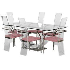 1stdibs - Lucite and Glass Dining Table and 6 Chairs by Maison Jansen explore items from 1,700  global dealers at 1stdibs.com