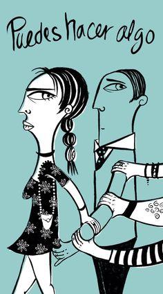 El acoso es violento.  Alto a la violencia de género.