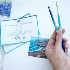 Meet the two latest Ocean's Joy series crochet hooks.🌊All the summer feels with this one and I am feelingy ready to visit the Ocean!😍 Summer Feeling, Crochet Hooks, Hand Carved, Two By Two, Feels, Carving, Ocean, Joy, Crochet