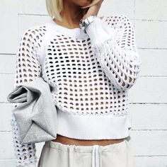 thick knit crop top