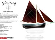 Live at Lake Norman, NC and am part of beginning wooden boat building group. Want to find plans for an Irish boat know as a Galway Hooker. Sailing Ships, Sailing Boat, Sailboat Yacht, Model Boat Plans, Small Sailboats, Wood Boat Plans, Wooden Boat Building, Boat Kits, Wooden Ship