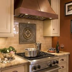 1000 images about kitchen medallions on pinterest ranges stove and countertops Kitchen backsplash design over stove