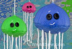 Jellyfish Cat Toy by Professor Pincushion for WeAllSew #sew #diy #cat #pet #toy #weallsew