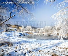 Winter at St. Bathans in Central Otago on the South Island of New Zealand