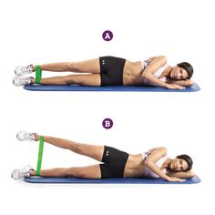 5 Trainers' Top Exercises For Tightening And Toning Your Inner Thighs - Fitness - HoMe Band Workouts, Toning Workouts, At Home Workouts, Aerobic Exercises, Fitness Exercises, Thigh Toning Exercises, Workout Fitness, Excersise Band Workout, Thigh Workouts