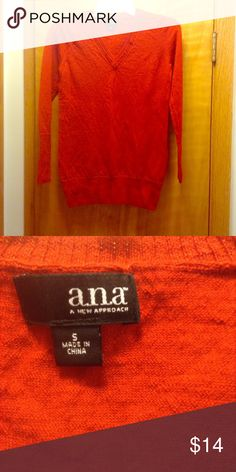 Red sweater, v-neck Red v neck sweater, great for the holiday season a.n.a Sweaters V-Necks