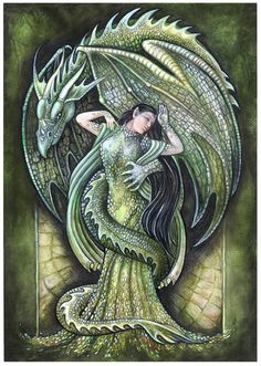 Dragon's bride (green) by jankolas on DeviantArt