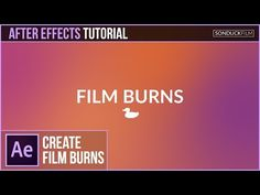 After Effects Tutorial: Gradient FILM BURN Animation - YouTube