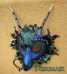 Gorgeous Great Dragon...custom colors by merimask on deviantART