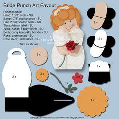 Alex's Creative Corner: Bride & groom favours
