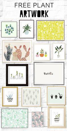 Free Printable l Plant Art l Cheap Home Decor