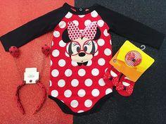 zpr Como aguentar tanta fofura ????? ❤️❤️❤️❤️ Body minnie + Kit faixa e sapatilha + Tiara 😱👏🏼💕 #mundopuket #baby #minnie #Disney