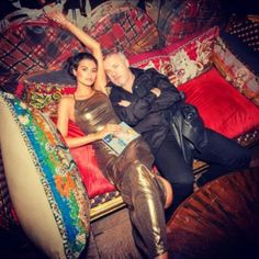 Portrait of an artist:  Damien Hirst pictured with his 26-year-old girlfriend…
