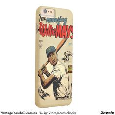 #baseball #vintagecomicbooks #marvel #dccomics #theamazingwilliemays #comicbook Vintage baseball comics - The amazing Willie Mays Barely There iPhone 6 Plus Case