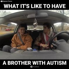 What it's like to have a brother with Autism Sweet Stories, Cute Stories, Funny Cute, Hilarious, Human Kindness, Touching Stories, Faith In Humanity Restored, Adhd, Aspergers Autism