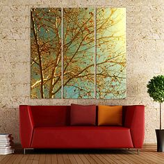 Golden+Memories+Canvas+Art+Botanical+Set+of+3+–+USD+$+72.99