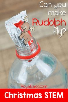 Can you make Rudolph fly? This Christmas STEM Project is great for a lesson on buoyancy during the Christmas season!