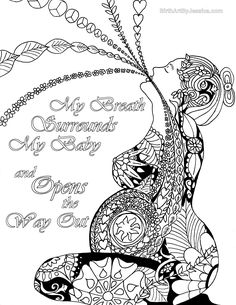 Birth Affirmation Coloring Page -Free Printable!-