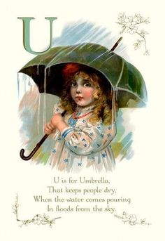 U is for Umbrella 24x36 Giclee