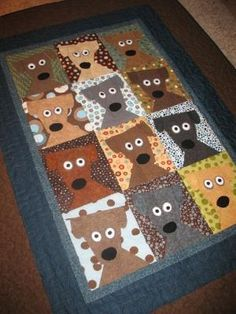 Dog Daze Quilt designed by Kimberly Rade. Pattern can be found at www. Dog Quilts, Cute Quilts, Animal Quilts, Barn Quilts, Small Quilts, Quilt Block Patterns, Quilt Blocks, Quilting Projects, Quilting Designs