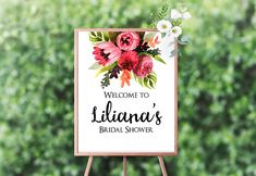 Printable Welcome Sign 8x10 Bridal Shower Floral