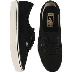 Vans Authentic Skate Shoes (Hemp) Black/Turtledove NEW! ❤ liked on Polyvore