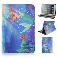 Little Mermaid Ariel Flip Stand PU Leather Case Cover For Apple iPad Mini 1 2 3