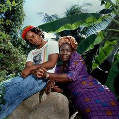 Ziggy and Queen Rita Marley...