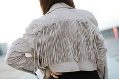 Fringed leather jacket. I still need one.